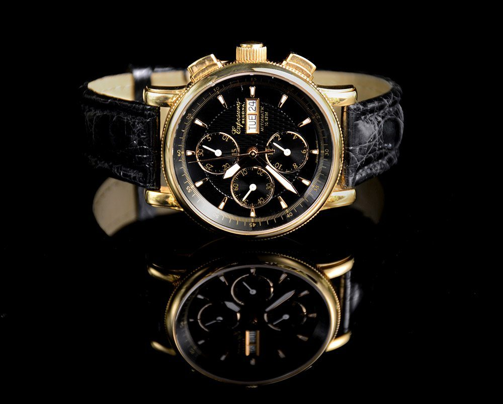 Exposures Mens Watch with Yellow Gold