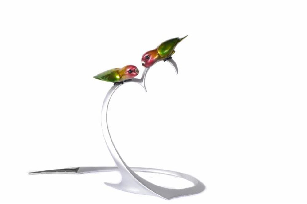 Love Birds | Frogman | Sculpture-Exposures International Gallery of Fine Art - Sedona AZ