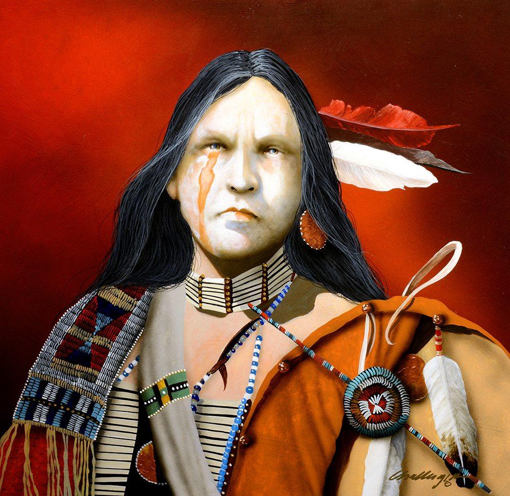 Red Feather | Jd Challenger | Painting-Exposures International Gallery of Fine Art - Sedona AZ