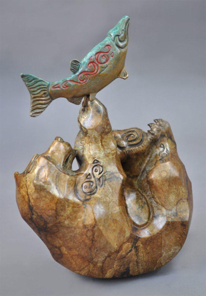 Sushi Roll | John Maisano | Sculpture-Exposures International Gallery of Fine Art - Sedona AZ