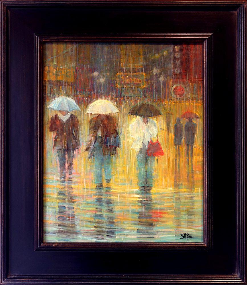 Streets of New York- Friday Night | September McGee | Painting-Exposures International Gallery of Fine Art - Sedona AZ