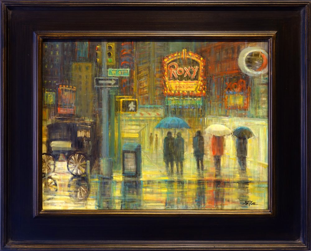 Streets of New York- Roxy | September McGee | Painting-Exposures International Gallery of Fine Art - Sedona AZ