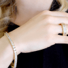 18 KGP Asscher Cut Tennis Bracelet with Double Security Clasp | Bling By Wilkening | Jewelry-Exposures International Gallery of Fine Art - Sedona AZ