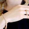 18 KGP Rose Gold Asscher Cut Bracelet with Double Security Clasp | Bling By Wilkening | Jewelry-Exposures International Gallery of Fine Art - Sedona AZ