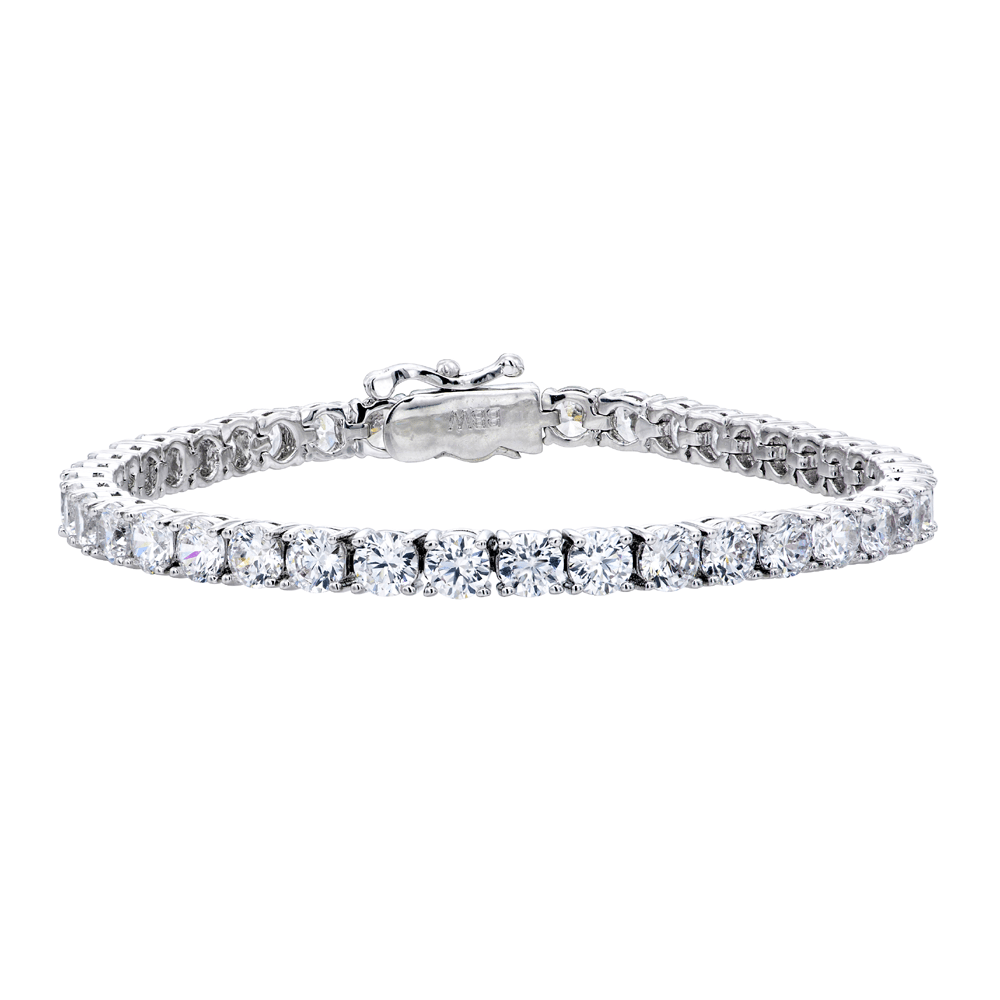 Silver 4mm Classic Tennis Bracelet with Double Security Clasp | Bling By Wilkening | Jewelry-Exposures International Gallery of Fine Art - Sedona AZ