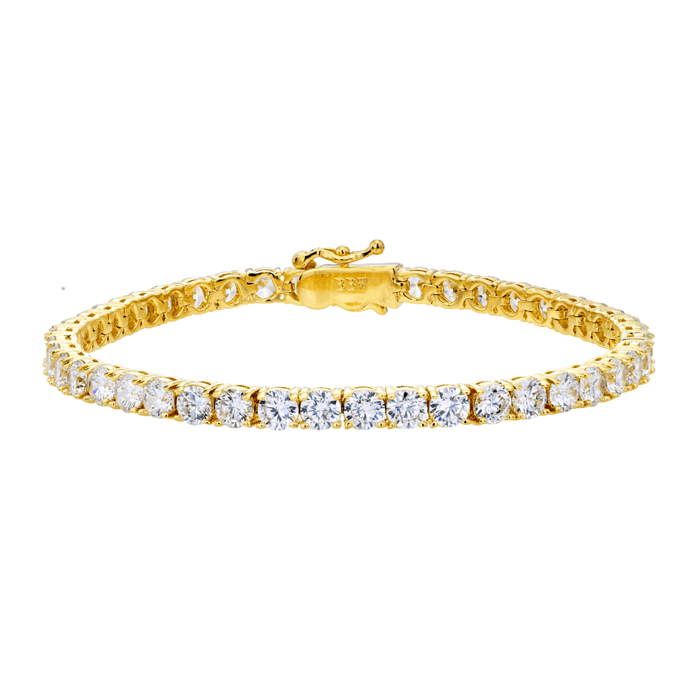 18 KGP 4mm Classic Tennis Bracelet with Double Security Clasp | Bling By Wilkening | Jewelry-Exposures International Gallery of Fine Art - Sedona AZ