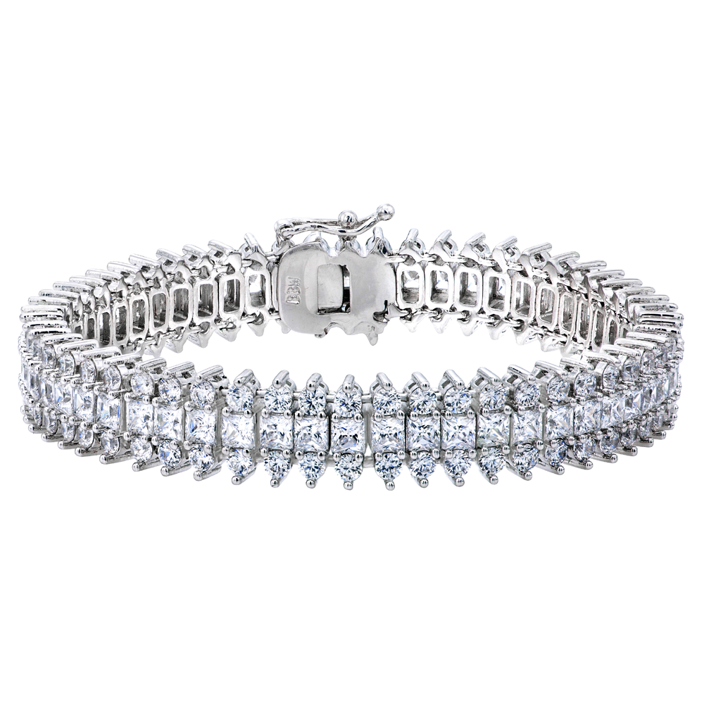 Silver St. Croix Tennis Bracelet with Double Security Clasp | Bling By Wilkening | Jewelry-Exposures International Gallery of Fine Art - Sedona AZ