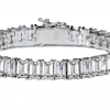 Silver Estate Emerald Cut Bracelet with Double Security Clasp | Bling By Wilkening | Jewelry-Exposures International Gallery of Fine Art - Sedona AZ
