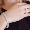 Bling By Wilkening Emerald Silver Tennis Bracelet Exposures International