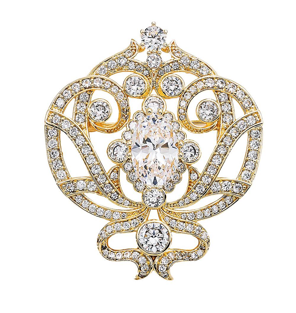 Bling By Wilkening Gold Regal Brooch Exposures International