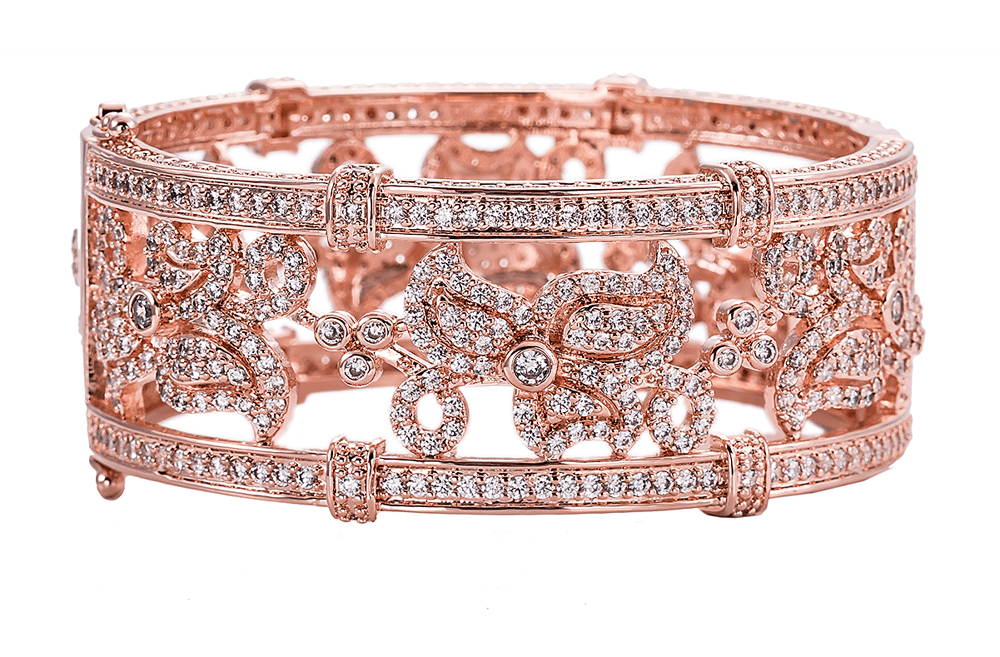 Bling By Wilkening Floral Rose Gold Cuff Exposures International