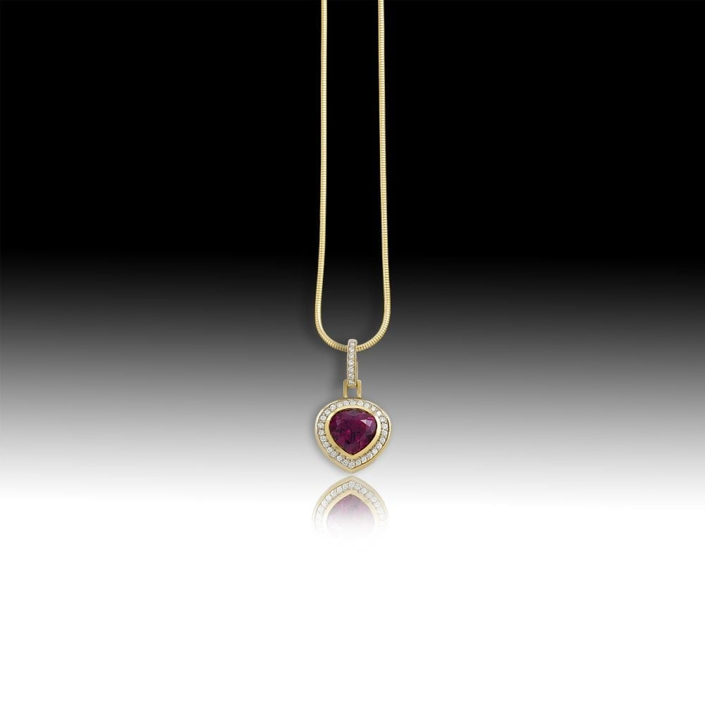 D151- Rhodolite Garnet 6.94 | Barbara Westwood | Jewelry-Exposures International Gallery of Fine Art - Sedona AZ