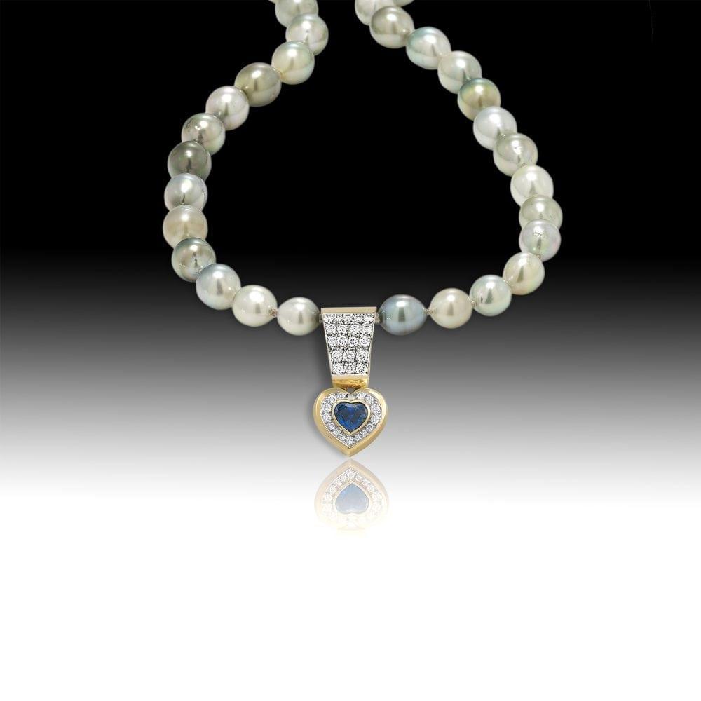 D139- Sapphire 1.75 | Barbara Westwood | Jewelry-Exposures International Gallery of Fine Art - Sedona AZ