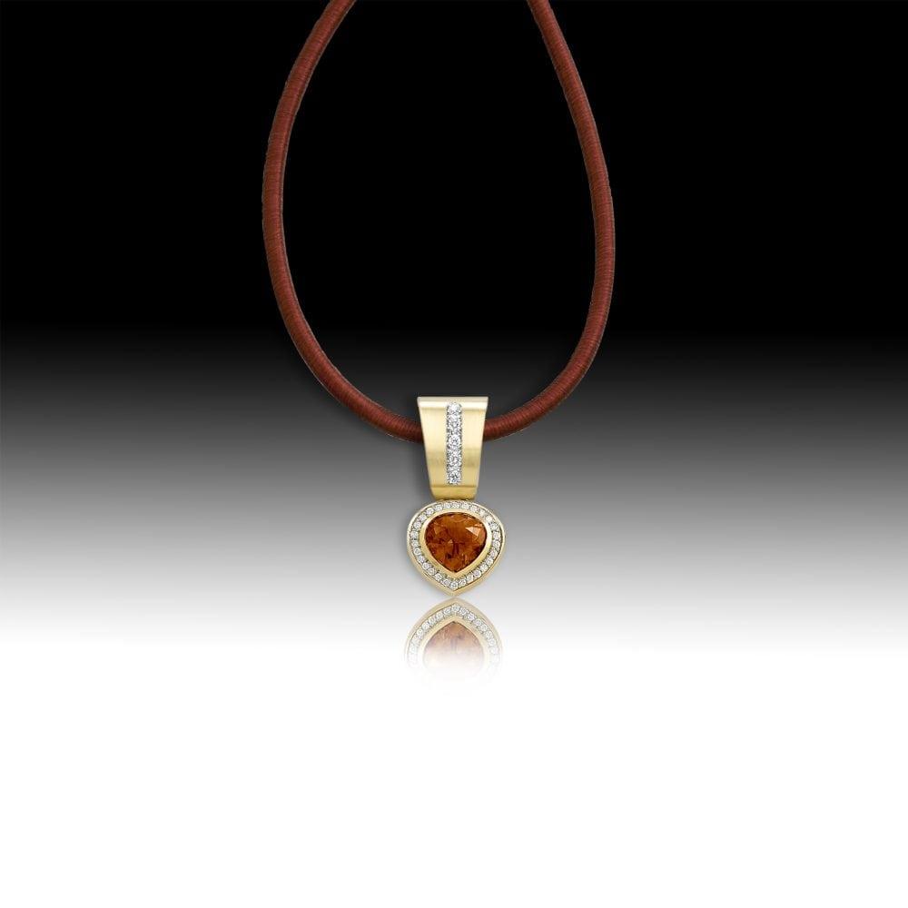 D151- Citrine 7.14 | Barbara Westwood | Jewelry-Exposures International Gallery of Fine Art - Sedona AZ