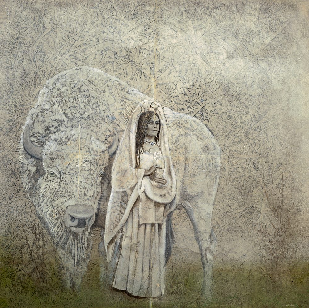 White Buffalo | Kimberly Webber | Painting-Exposures International Gallery of Fine Art - Sedona AZ