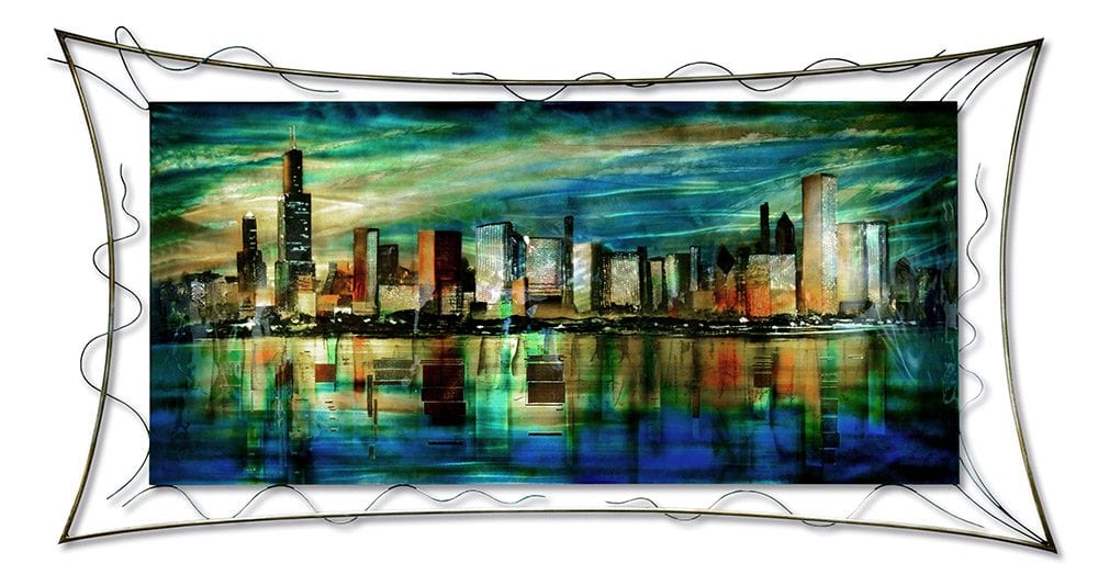 Chicago Nights | Lynn Demiurge | Wall Art-Exposures International Gallery of Fine Art - Sedona AZ