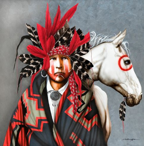 Red Feather's Pony | Jd Challenger | Painting-Exposures International Gallery of Fine Art - Sedona AZ