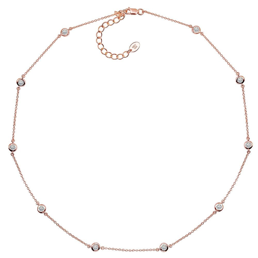 18 KGP Rose Gold Regal Short Floating Necklace 18'' | Bling By Wilkening | Jewelry-Exposures International Gallery of Fine Art - Sedona AZ