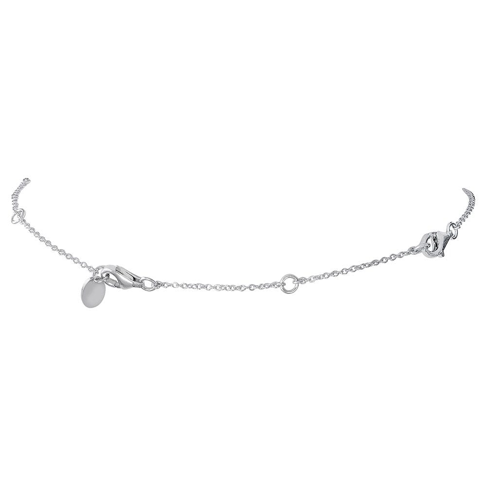 """Sterling Silver Station Necklace Extension 2.5"""" 