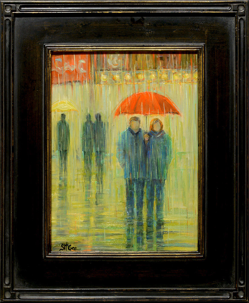 Walking in the Rain | September McGee | Painting-Exposures International Gallery of Fine Art - Sedona AZ