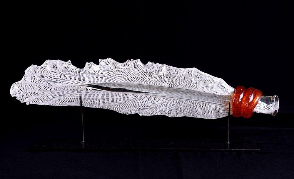 Electric Owl Feather | Nic McGuire | Sculpture-Exposures International Gallery of Fine Art - Sedona AZ