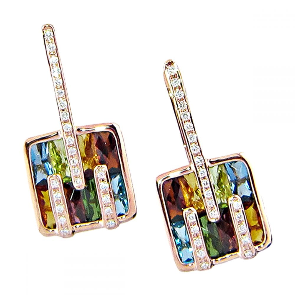 Boulevard I Earrings | Bellarri | Jewelry-Exposures International Gallery of Fine Art - Sedona AZ