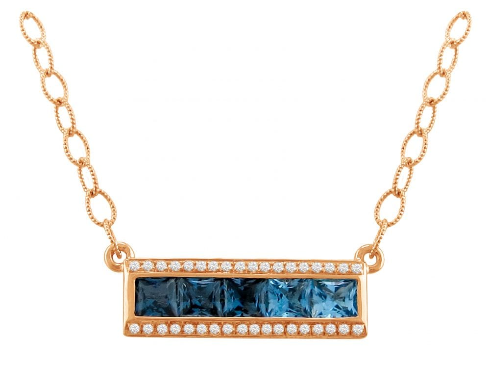 Eternal Love Blue Topaz Pendant | Bellarri | Jewelry-Exposures International Gallery of Fine Art - Sedona AZ