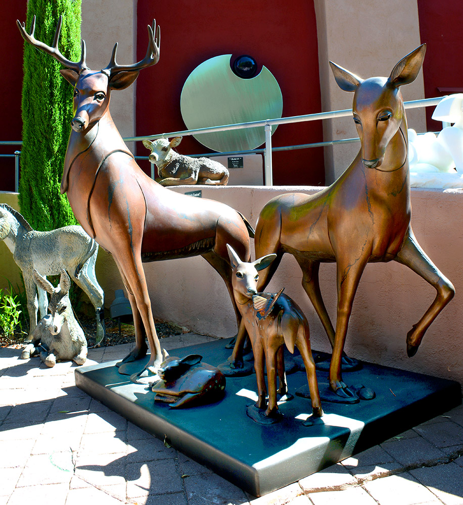 Deer Family | Clint Howard | -Exposures International Gallery of Fine Art - Sedona AZ