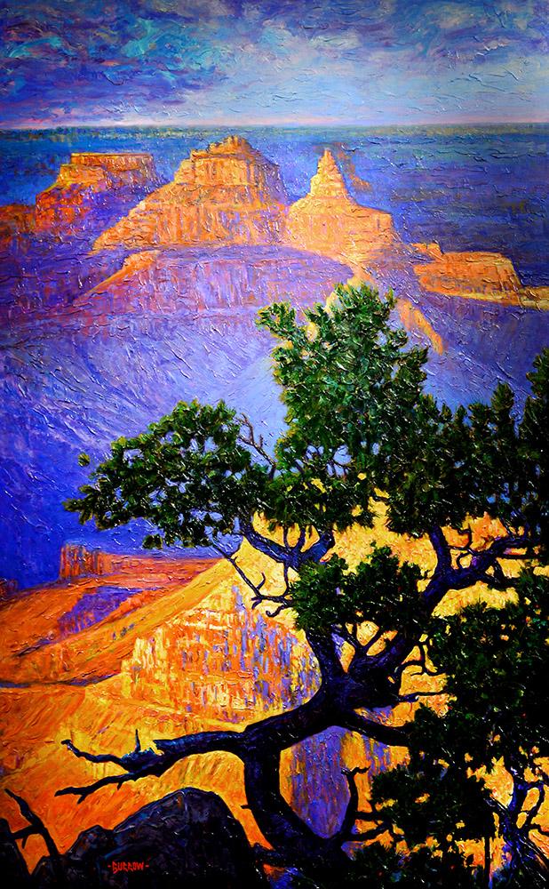 Majestic Grand Canyon | John Burrow | Painting-Exposures International Gallery of Fine Art - Sedona AZ
