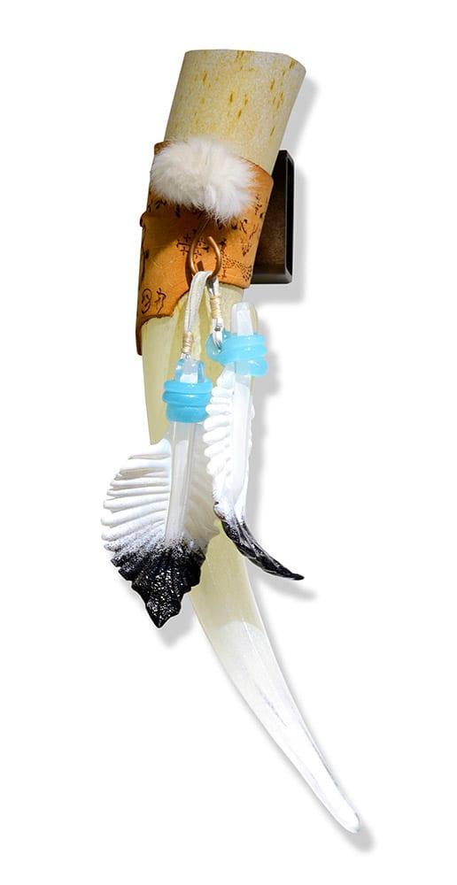 Eternal Hanging Tusk | Nic McGuire | Sculpture-Exposures International Gallery of Fine Art - Sedona AZ