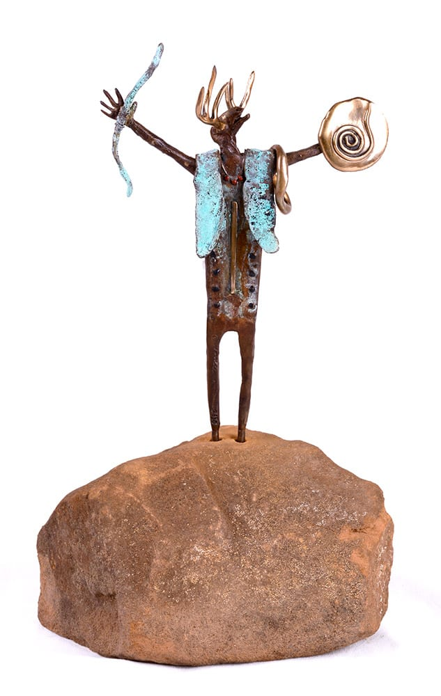 Shaman of the Desert | Bill Worrell | Sculpture-Exposures International Gallery of Fine Art - Sedona AZ