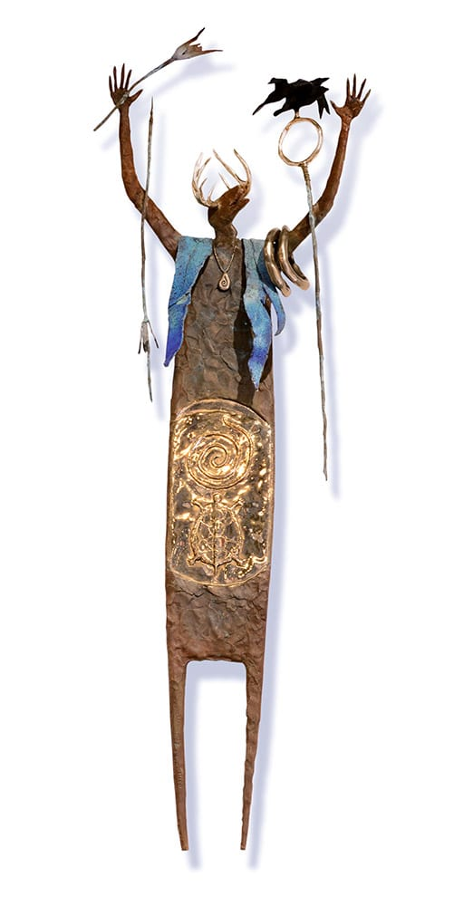 The Shaman Calls The Shaman Beckons | Bill Worrell | Sculpture-Exposures International Gallery of Fine Art - Sedona AZ