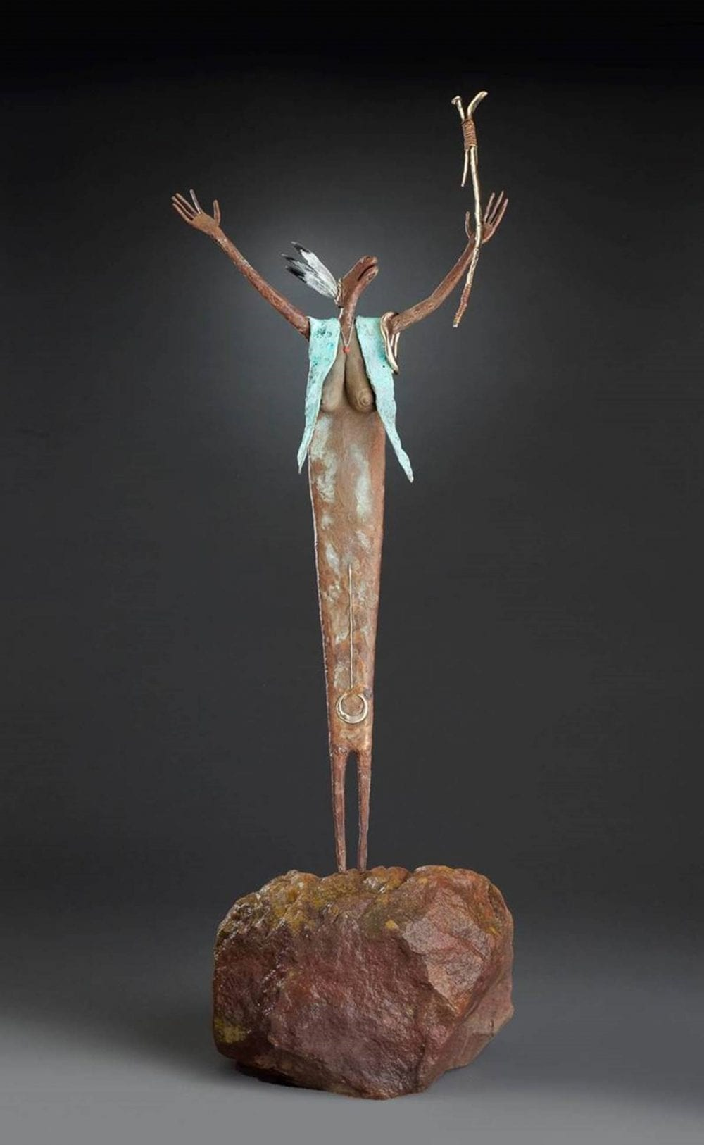 Maker of Strong Medicine | Bill Worrell | Sculpture-Exposures International Gallery of Fine Art - Sedona AZ