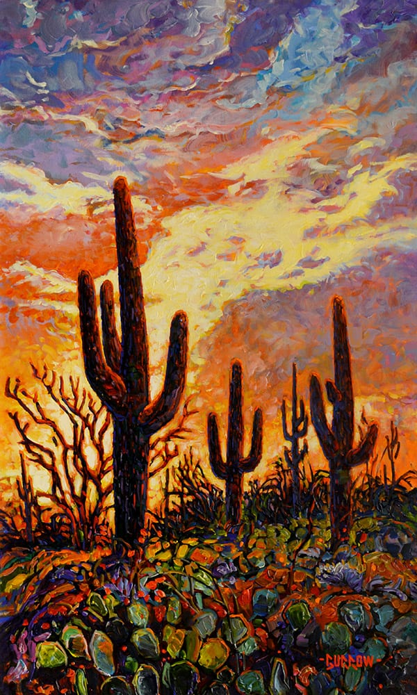Arizona Sky | John Burrow | Painting-Exposures International Gallery of Fine Art - Sedona AZ