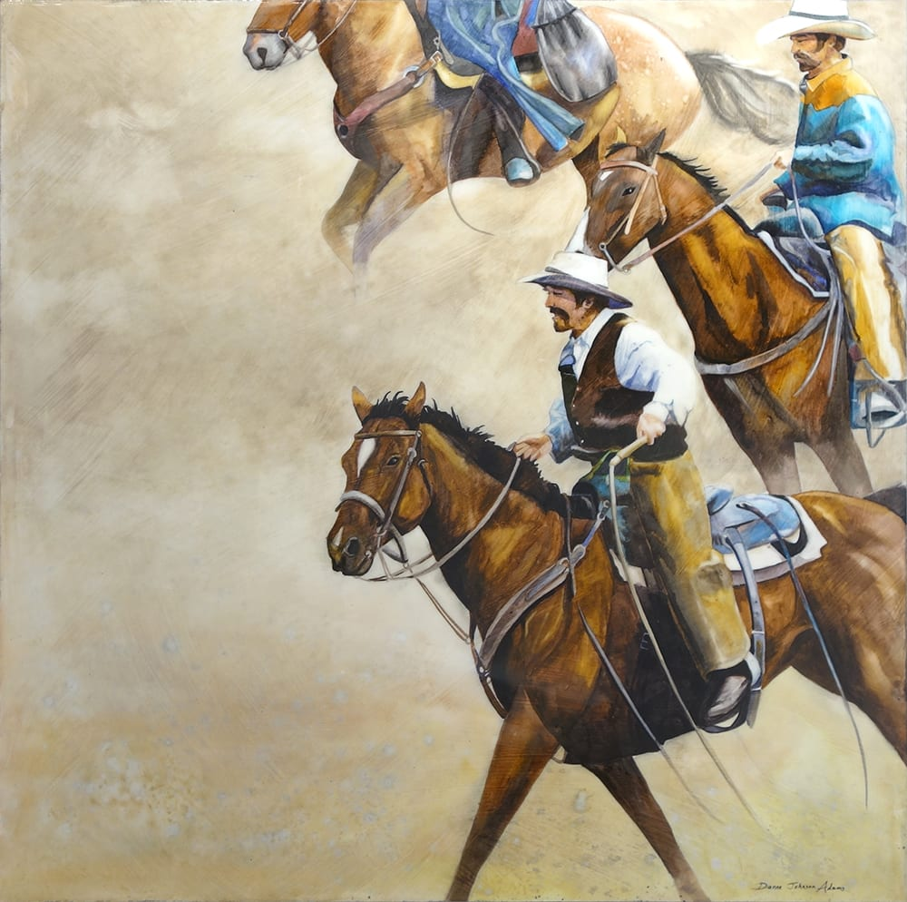 Cowboys round them up | Dianne Adams | Painting-Exposures International Gallery of Fine Art - Sedona AZ