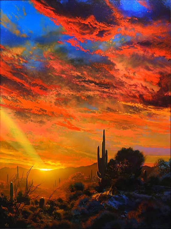 Scarlett Enchantment | Dale Terbush | Painting-Exposures International Gallery of Fine Art - Sedona AZ