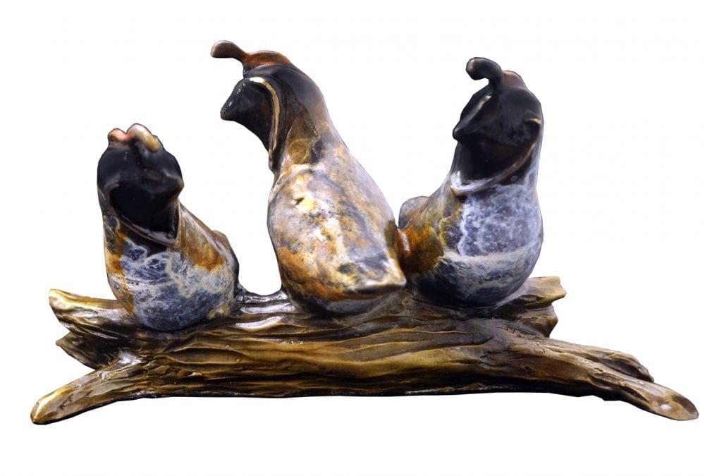 Roosting Covey   Diana Simpson   Sculpture-Exposures International Gallery of Fine Art - Sedona AZ