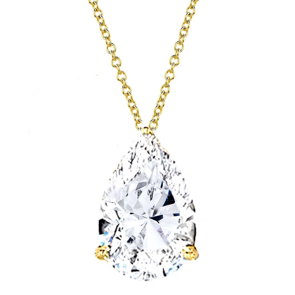 18 KGP 4 Carat Pear-Shaped Necklace | Bling By Wilkening | Jewelry-Exposures International Gallery of Fine Art - Sedona AZ