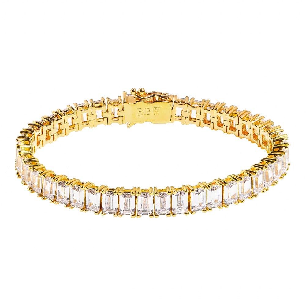 18 KGP Estate Emerald Cut Bracelet with Double Security Clasp | Bling By Wilkening | Jewelry-Exposures International Gallery of Fine Art - Sedona AZ