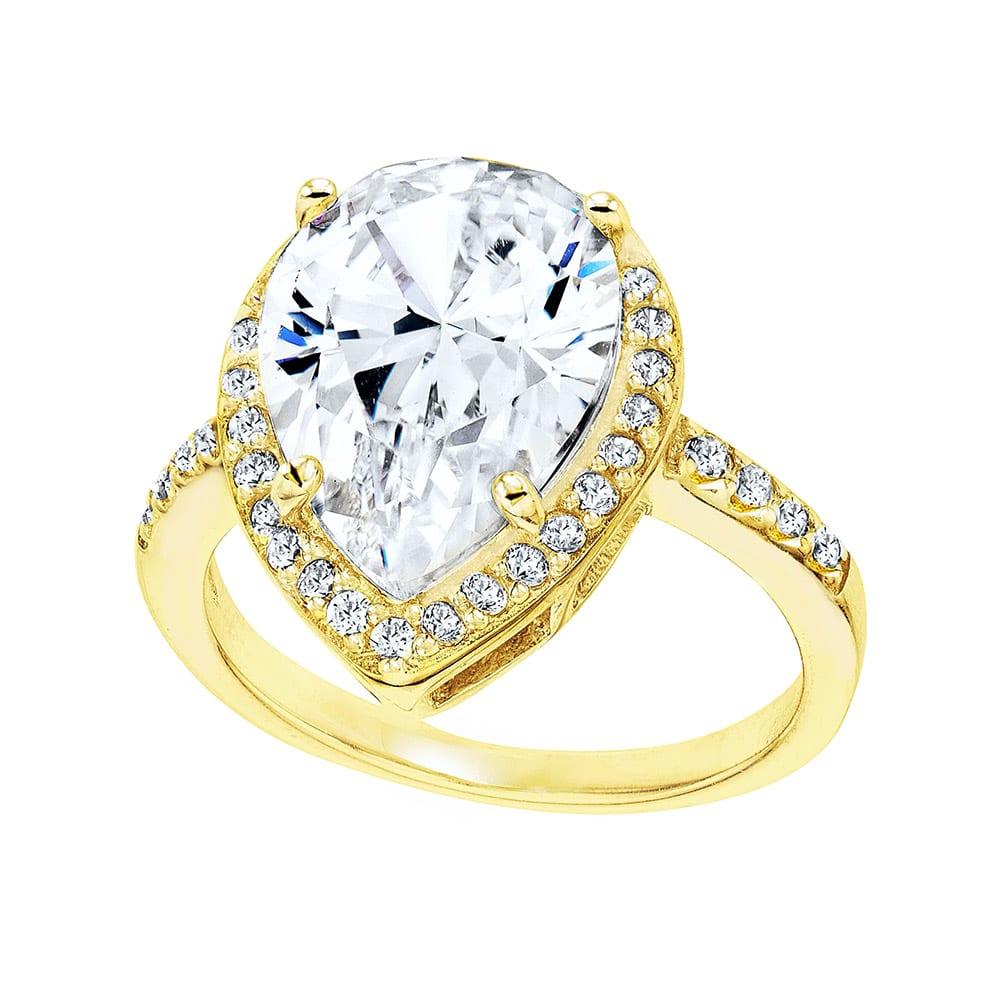 18 KGP 4 Carat Pear-Shaped Ring | Bling By Wilkening | Jewelry-Exposures International Gallery of Fine Art - Sedona AZ