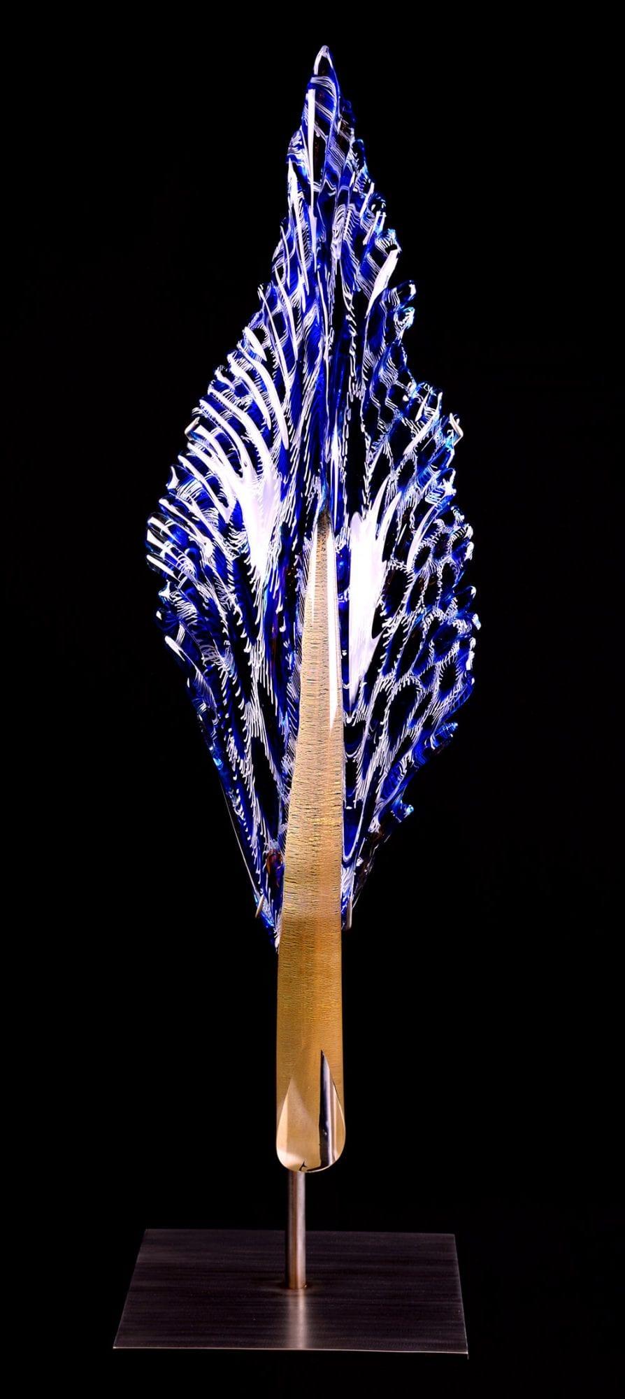 Cobalt Blue Starfire Feather | Nic McGuire | Sculpture-Exposures International Gallery of Fine Art - Sedona AZ