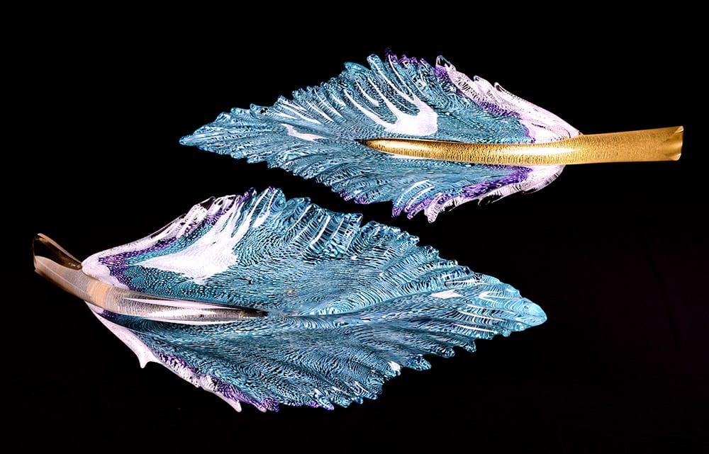 Lagoon Blue Starling Feather Set | Nic McGuire | Sculpture-Exposures International Gallery of Fine Art - Sedona AZ