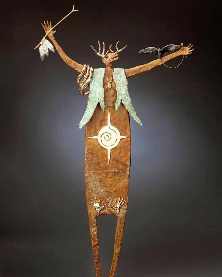 A Message Transcending Time | Bill Worrell | Sculpture-Exposures International Gallery of Fine Art - Sedona AZ