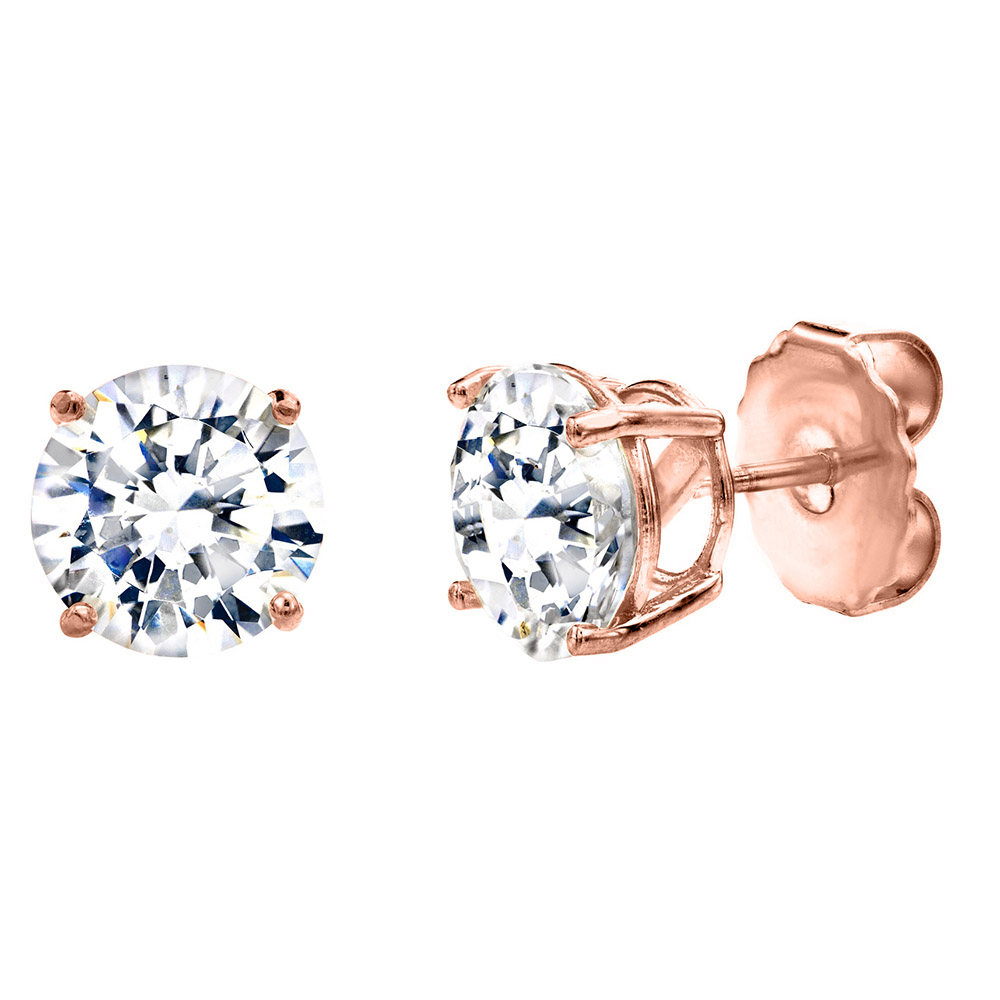 18 KGP Rose Gold 2 Carat 4 Prong Studs | Bling By Wilkening | Jewelry-Exposures International Gallery of Fine Art - Sedona AZ